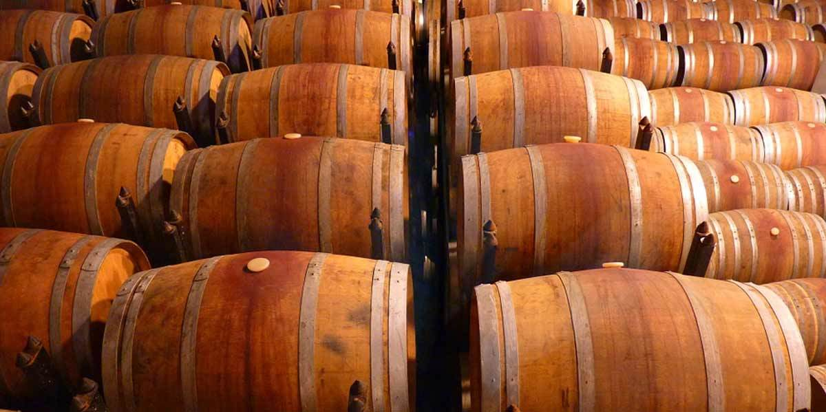 Image of wine barrels